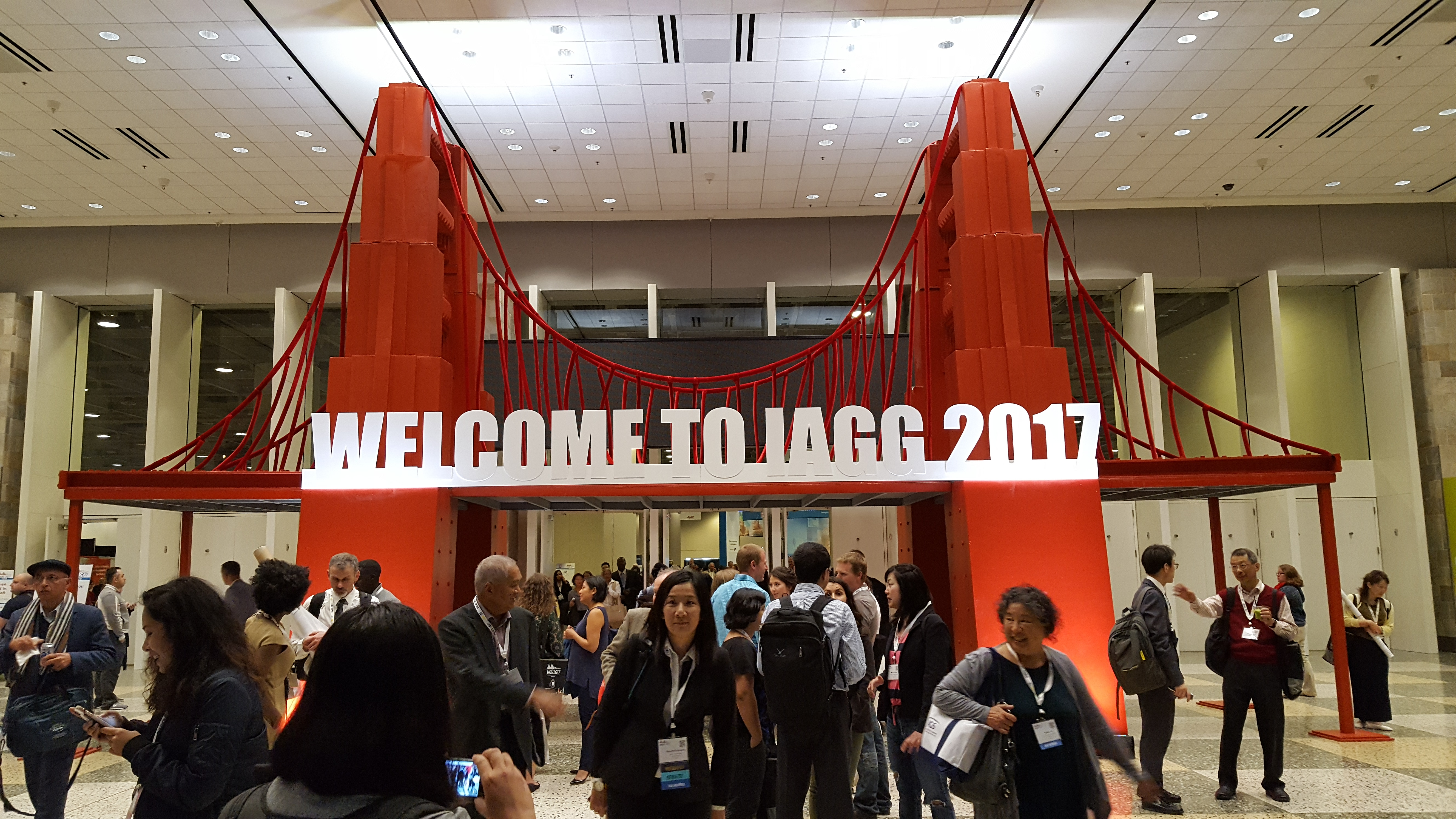 IAGG welcome sign