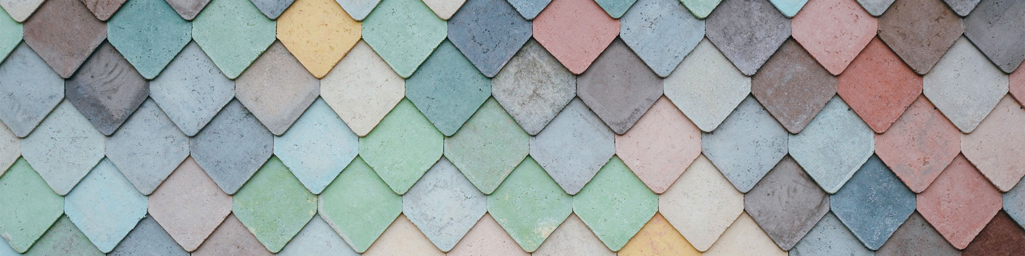 Coloured tiles banner