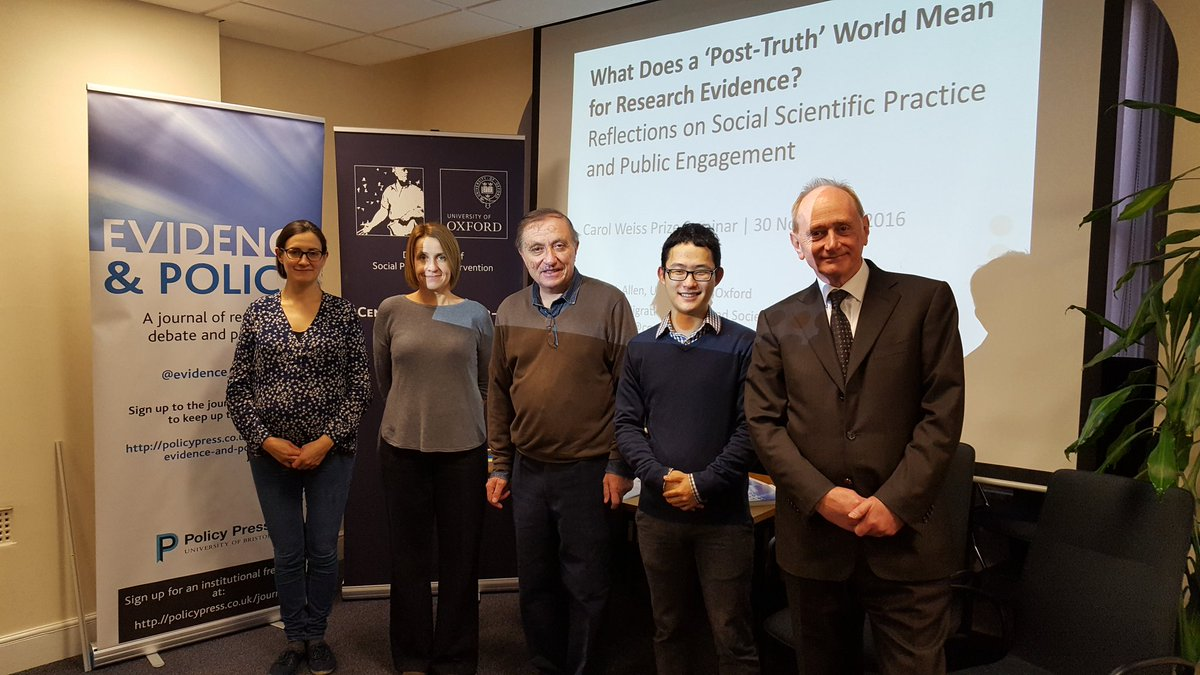 First Carol Weiss Prize Seminar held