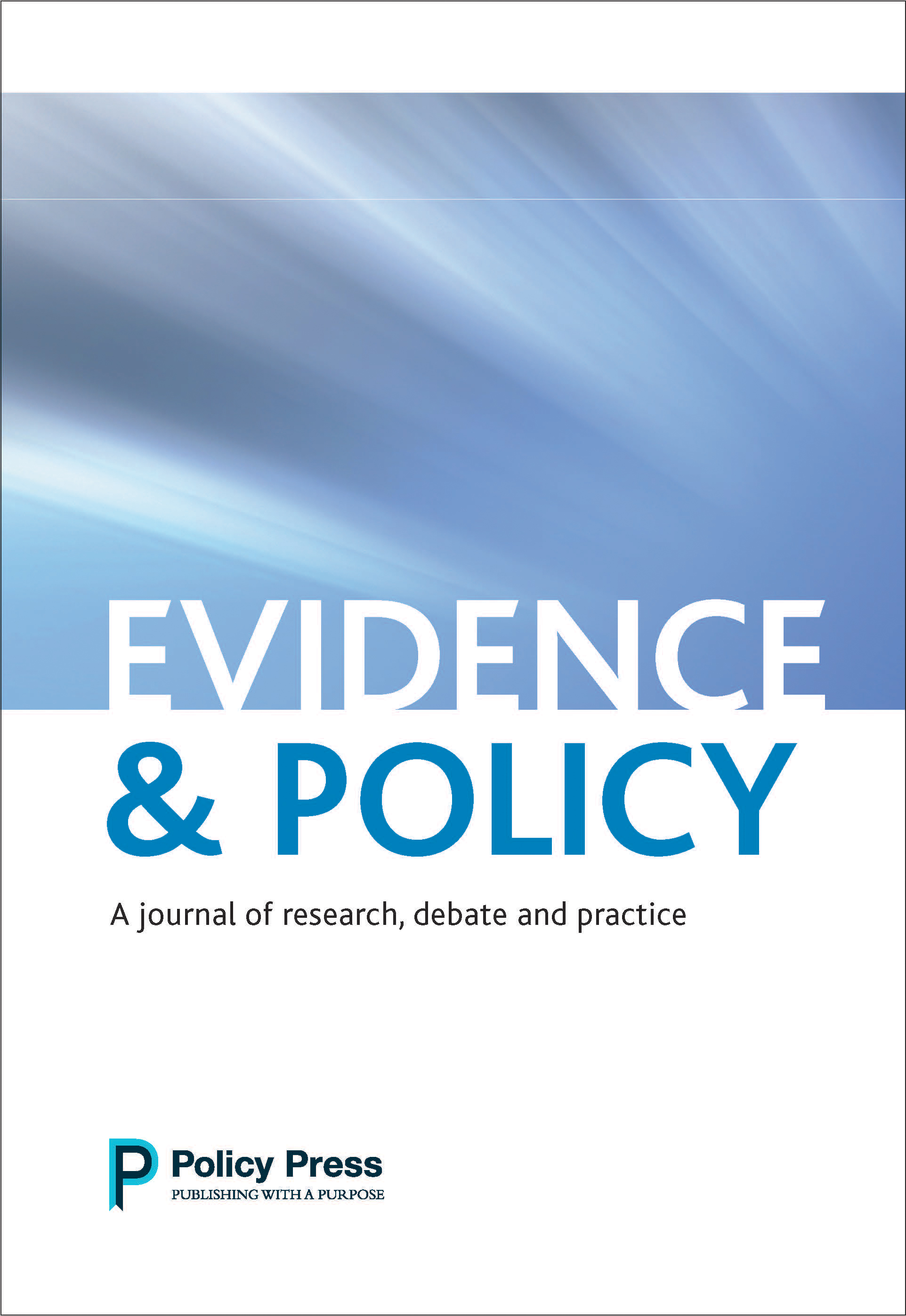 Evidence & Policy: Winner of the 2017 Carol Weiss Prize announced