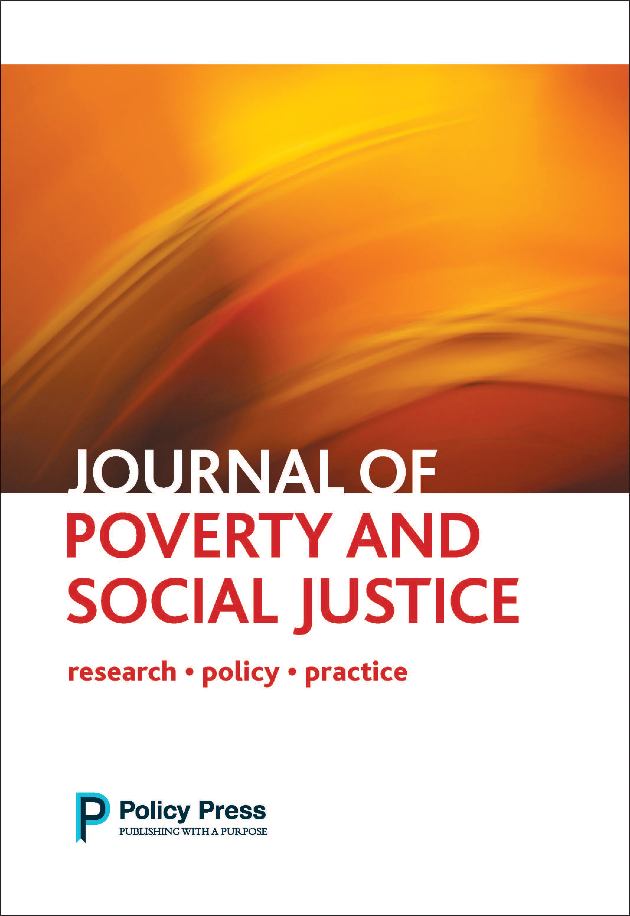 Journal of Poverty and Social Justice cover