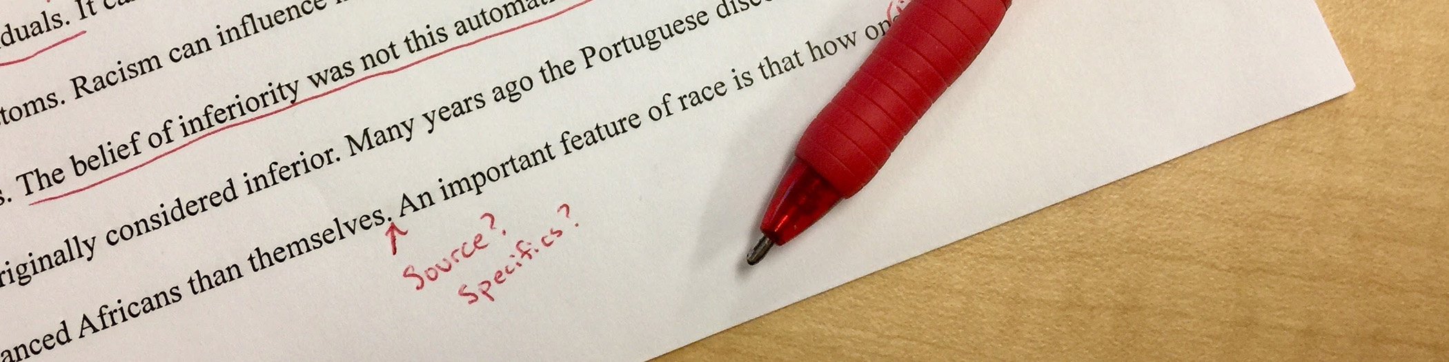 Red pen editing