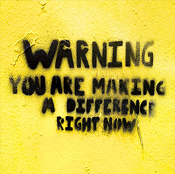 Warning you are making a different right now wall art