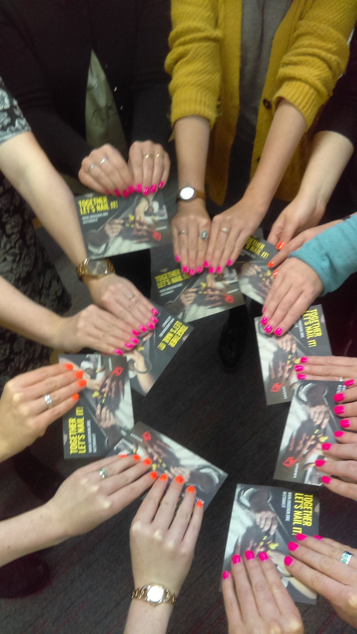 Neon nails to support Unseen UK's #letsnailit campaign