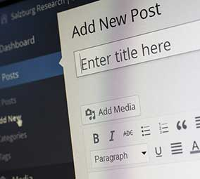 wordpress screen
